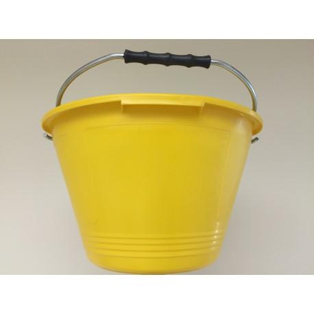 Secchio muratore Australian giallo in materiale plastico super resistente