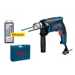 Trapano battente Bosch Professional GSB 1600 RE + set punte metallo