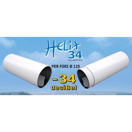 Helix silenziatore elicoidale per fori di areazione diam. 125 mm