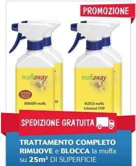 Muffaway - TRATTAMENTO COMPLETO ANTIMUFFA vendita | Ingrosso e dettaglio materiali e prodotti per imprese edili