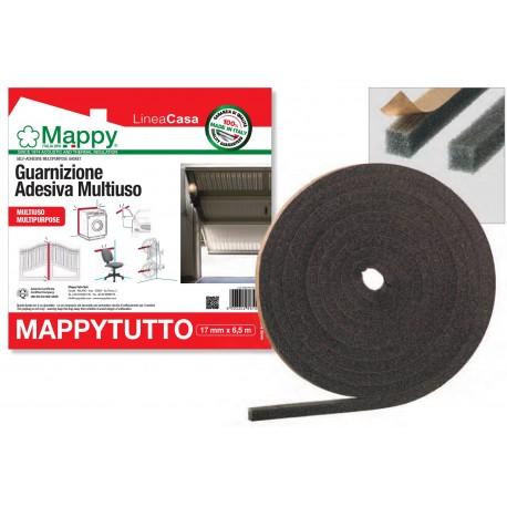 MAPPYTUTTO la guarnizione adesiva multiuso 17 mm x 6.5 m