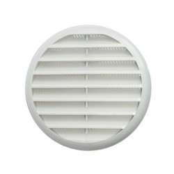 Griglia di aerazione in plastica ABS bianca per fori da diam.80 mm a 125 mm