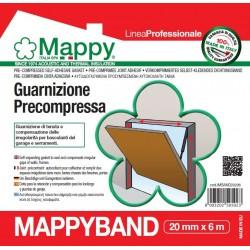 MAPPYBAND guarnizione adesiva precompressa a lenta espansione 20 mm x 6 m