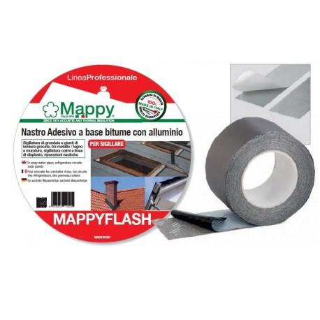 MAPPYFLASH nastro adesivo a base bitume con alluminio rotoli da 50/100/225 mm x 10 m