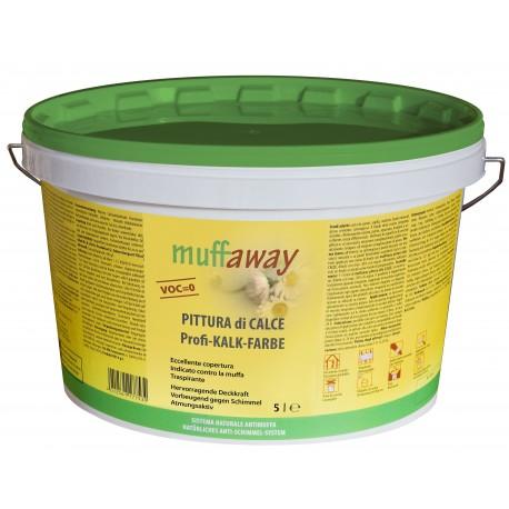 Pittura di calce antimuffa naturale - Muffaway 5 L