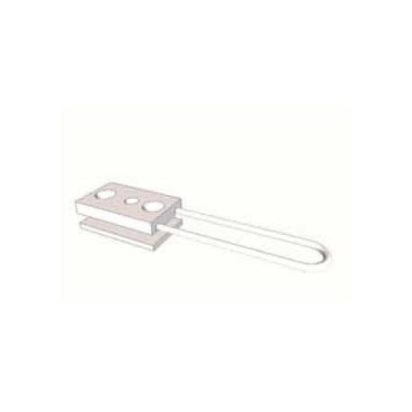 Dispositivo di ancoraggio flessibile a basso impatto visivo applicabile a coperture inclinate o piane, lunghezza 500 mm