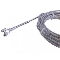 Cavo in acciaio inox diametro 8 mm per sistema anticaduta in 3 lunghezze