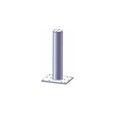Palo per sistema anticaduta diam. 80 mm in 2 lunghezze con base piatta zincato