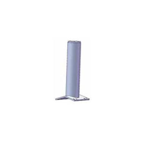 Palo per sistema anticaduta diam. 80 mm in 2 lunghezze con base a doppia inclinazione per colmo, zincato