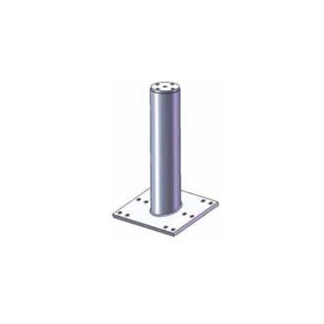 Palo per sistema anticaduta diam. 80 mm in 2 lunghezze con base inclinata per falda, zincato