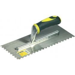 Frattone in acciaio dentato mm 280 x 120, misure dente 5 x 7 mm