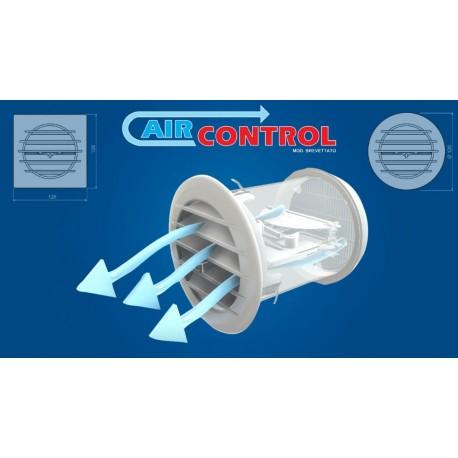 Griglia di ventilazione con valvola termostatica per fori diametro 100 mm e 110 mm