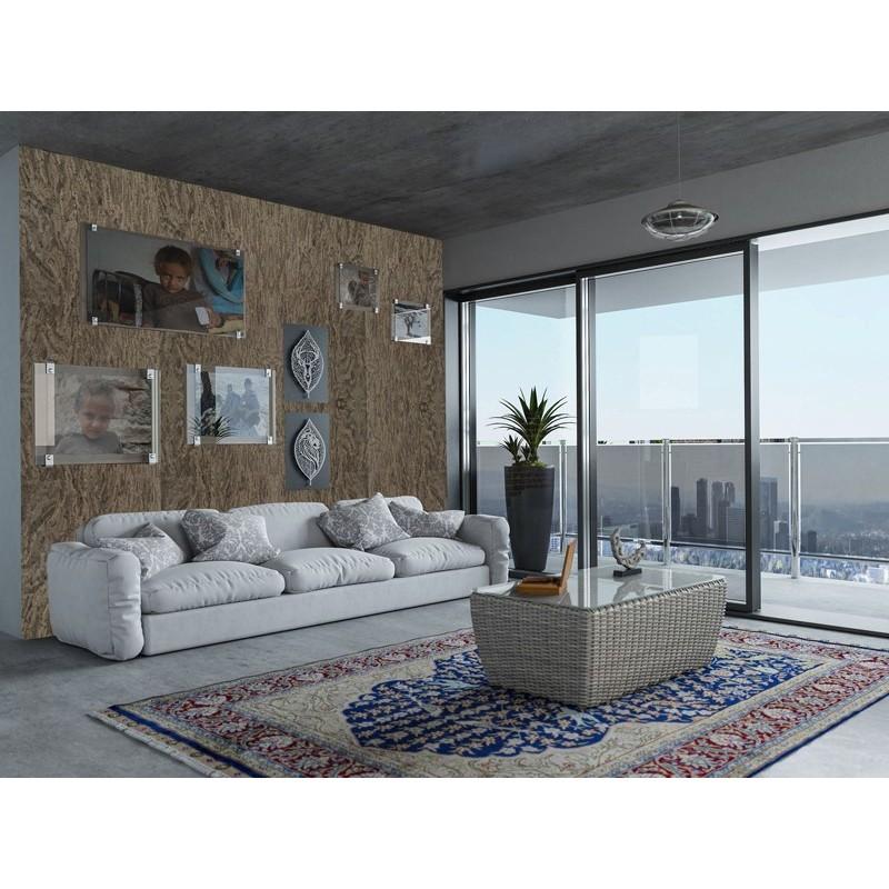 Rivestimento isolante in sughero decorativo quince grey per pareti e soffitti rotolo da 3 85 mq - Rivestimento decorativo pareti ...