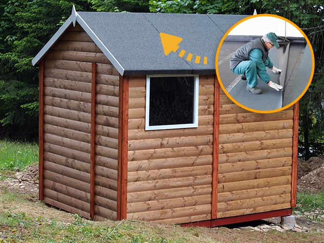 Impermeabilizzazione tetto casetta in legno da giardino